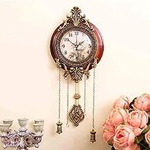 WW Sala de estar clásica europea Reloj de pared silencioso Movimiento original Sala de estar Reloj