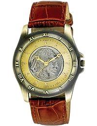 AUGUST STEINER CN002G-AS - Reloj de pulsera Hombre, Cuero, color Marrón