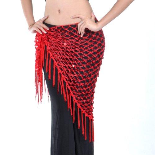 e Hip Schal, ägyptische Dreieck Schal, Halloween Git Idee, Rot, BDSH-DK16110_RED (Damen Halloween Outfit Ideen)