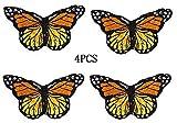 Toppe Termoadesive Applique Farfalle per Cucito Rifiniture Abbellimenti Badge Butterfly Embroidery Patch Sew decorazioni per vestiti, cappelli, scarpe, jeans