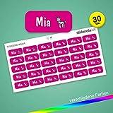 Stickerella - 30 Namensaufkleber für Kinder - Namensetiketten für Schule