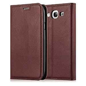JAMMYLIZARD | Ledertasche für [ Galaxy S3 / S3 Neo ] Swiss Wallet Hülle, BRAUN mit integriertem Magnetverschluss