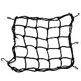 Gepäcknetz für hohe Belastungen, elastisches Netzgewebe mit verstellbaren Kunststoffhaken, für Motorräder, ATV