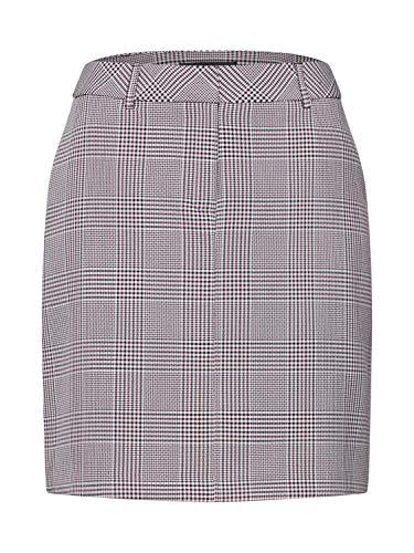 Dorothy Perkins Damen Rock BLK & Port Check Belted Skirt schwarz 16 (44) - Belted Check