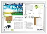 Franken BS1902 A3 Schaukasten Wechselrahmen Security Abschließbar, 35.9 x 48.2 x 1.7 cm