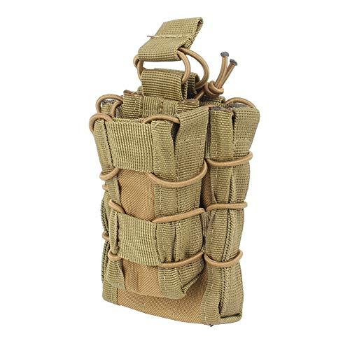 Molle Mag Pouch Taktisch Bauchtasche Tragbarer Ammo Clip Holder Nylon Mag Tasche Mini Fanny Pack Mag Beutel für Jagd Camping Reisen Wandern Radfahren(Schlamm)
