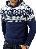 Reslad norvegesi maglione pullover maglione invernale felpa con cappuccio | da uomo per gli uomini di RS 3013 Blau XX-Large