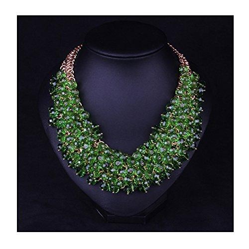 hamer-collana-da-donna-placcata-oro-con-cristalli-colore-verde-prato