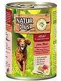 NATUR plus Hundefutter ADULT mit 70% Rind - getreidefrei (6 x 400 g)