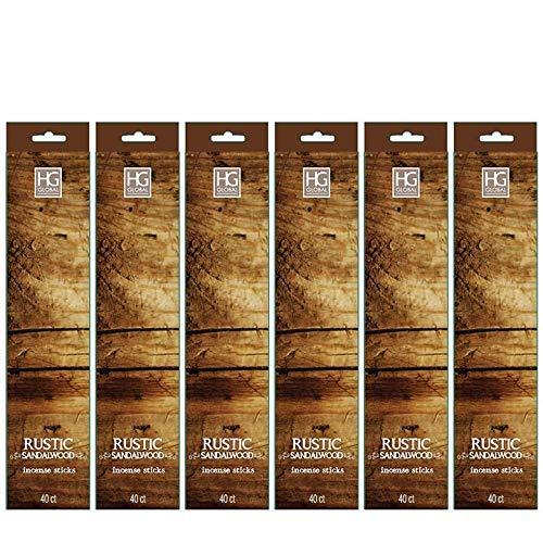 hosley de 240 Unidades rústico penetrante fragancia incienso de sándalo. Mano perfumada, impregnado con aceites esenciales. Product ID: 040338526605