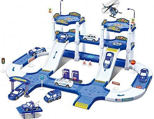auf 2 Ebenen inkl. Zubehör / Spielzeug für Kinder / Parkgarage / Auto-Haus / Polizei Station ()
