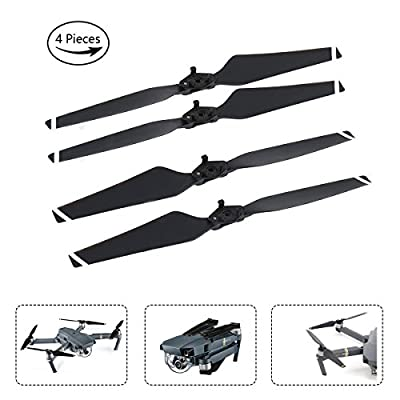 AQGOODLIFE DJI Mavic Pro Accessories 4 Pieces 8330F Propellers Quick Release Folding for Your Drone(Grey)