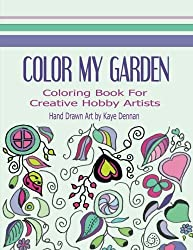 Color My Garden: Coloring Book For Adult Hobbiests (Adult Coloring Books) by KD Coloring Studio (2015-10-29)