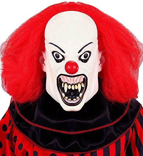 Clown mit Perücke Mens, weiß, One Size, vd-wdm05405 (Mens Weißen Perücken)