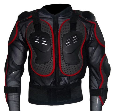 Motorrad-Schutzkleidung Rüstung Protektorenhemd Jacke Armour Motorrad Jacket Brustpanzer für Off Road Racing Motorcross Fit For Harley Davidson Softail Springer (S für 45-50kg, Rot)
