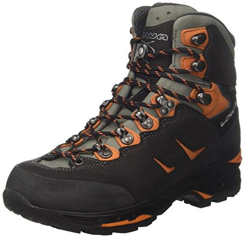 Lowa Camino GTX, Chaussures de Randonnée Hautes Homme Multicolore (Nero/arancio 0920)