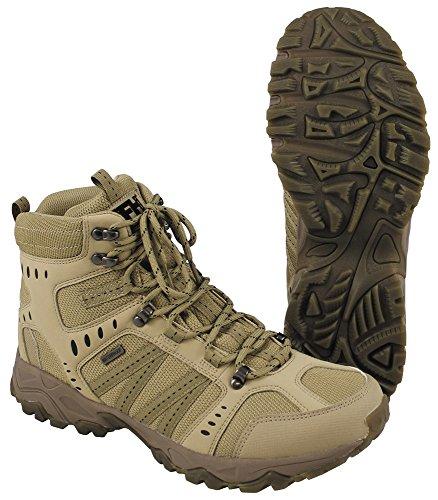 MFHHighDefence Einsatzstiefel, Tactical, Coyote tan Bequeme Wanderschuhe Outdoor - 41 - Armee Schuhe
