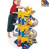 Parkgarage, 6 Ebenen, 84 cm hoch, Kunststoff, man. Aufzug: Auto Spielzeug Garage Spielstrasse Spielzeugauto 6 Etagen Parkhaus