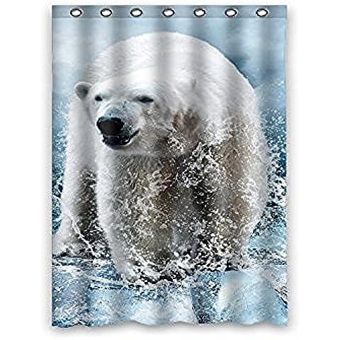Sogno fuori bianco orsi polari Ghiaccio Spray Animali tessuto impermeabile Tenda doccia