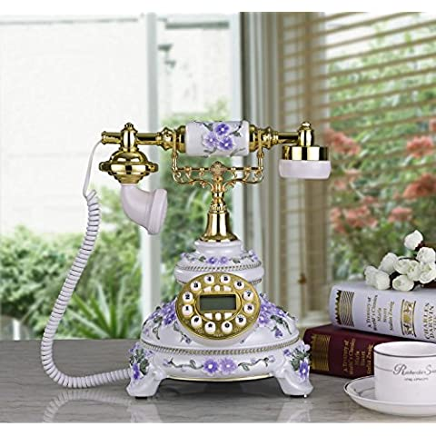 25 * 23 * 28 cm creativo in resina antica tecnologia telefono retrò telefono ID chiamante ornamenti decorativi casa telefono fisso