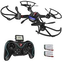 Holy Stone F181 rc Drohne mit HD Kamera RTF 2.4GHz 6-Axis Gyro Stabilization System Quadrocopter ferngesteuert mit automatische höhenhaltung, One Key Start/Landung, 360° Looping, Headless Modus,4GB Speicherkarte für Anfänger, schwarz