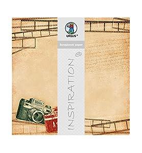 Ursus 703000281-Premium Glitter Scrapbook Paper Photography, Aprox. 30,5x 30,5cm, 5Hojas, diseño 281