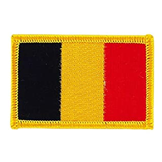 Iron-on Embroidered Belgian Flag Patch for Backpacks