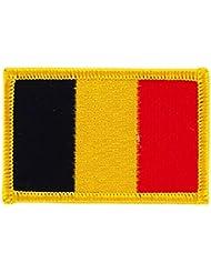 Patch écusson brodé drapeau belgique belge thermocollant insigne backpack
