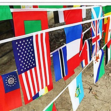 Kicode attachmenttou Nationale String Flags Banner Fußball-Ereignis-Party Garlands Country Flag Bunting Euro Cup -