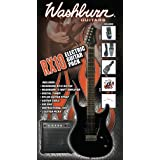 Washburn RX-10 B Pack – WASHBURN RX-10 B – Pack de Guitare électrique, 15 W