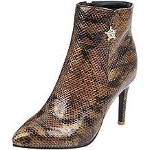 7317e69cb Logobeing Botas Mujer Invierno Botas de Mujer Casual Antideslizantes  Zapatos Mujer Botines Mujer Tacon Sexy Zapatos