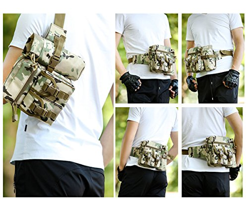 UEK Marsupio Sportivo Marsupio Running Cintura Multifunzione Borsa per Uomo Donna Hydration Marsupio per Palestra Ciclismo Alpinista Nylon fabric G