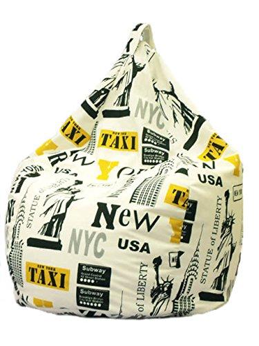 Avalli poltrona a sacco pouf in cotone design new york city