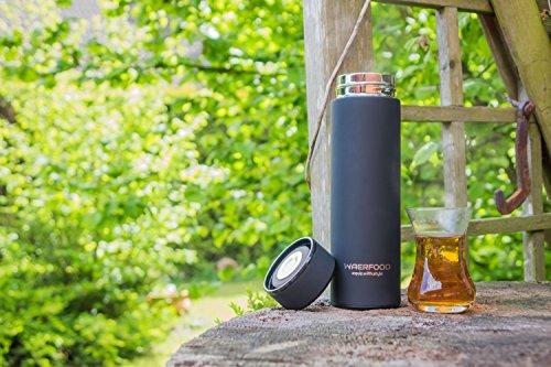 Thermoskanne WAERFOOD | Isolierkanne 500ml – BPA, BPS Frei | Edelstahl Thermosflasche Tee, Kaffee | Isolierflasche | Inklusive Teesieb | Trinkflasche Fitness, Yoga, Fahrrad - 6