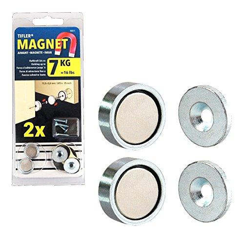 2 x Türschnapper, magnetisch, zum bündigen Versenken
