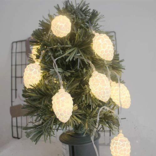 Explosion Modelle weiße Risse Herbst Tannenzapfen 3 m 20 LED-Leuchten Schlafzimmer Zimmer Urlaub Party Dekoration Sternenlichterkette -