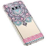 Uposao Samsung Galaxy S10e Coque Silicone Transparente Motif Mandala Fleur Coloré...