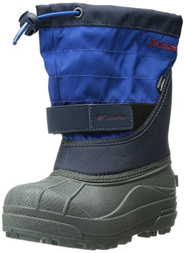 Columbia Unisex-Kinder Youth Powderbug Plus Ii Trekking-& Wanderstiefel, Blau, 35 EU