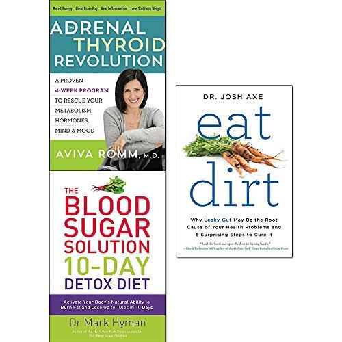 Adrenal Schilddrüse Revolution [Hardcover], Blutzuckerlösung 10-Tage-Detox Diät und Essen Dreck 3 Bücher Sammelset -