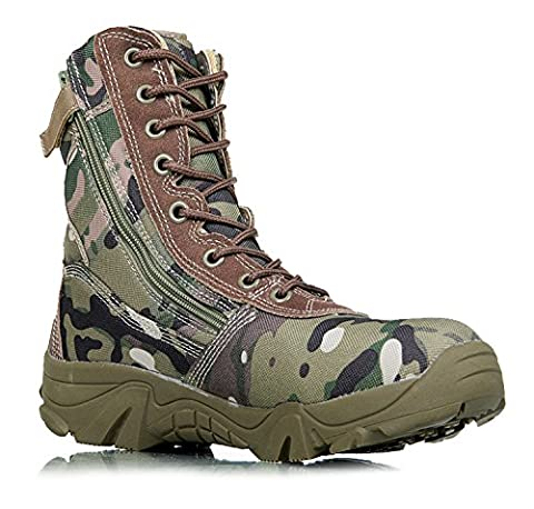 WZG Men's Camouflage Tactical Boots Autumn Winter Outdoors Hiking Boots Flight Boots Desert Boots Special Forces Boots Combat Boots Men's Boots , green , 40
