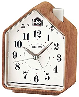 Seiko, QHP005A, Despertador analógico, Marrón