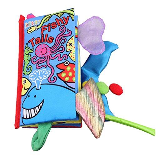 ZIYOU Kinderbücher Intelligenz Entwicklung Cognize Buch Tiere Lernen Bild Tuch (F)