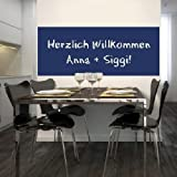 Tafelfolie Kreidetafel Wandtafel inkl. 2 Kreidestiften 120x80cm - blau - Qualitätsware 100% Made in Germany! Aufkleber für Gastronomie & Kinderzimmer Schultafelfolie
