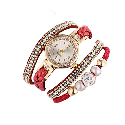 Mode Armband Damen Uhren Beiläufig Diamant Weben Uhr für Frau Ehefrau Besondere Armbanduhr Groveerble