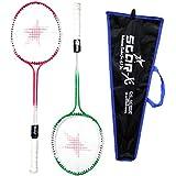 StarX Multi-shaft Steel Badminton Racquet Set, Adult G4 - 3 3/4-inch (Multicolor)