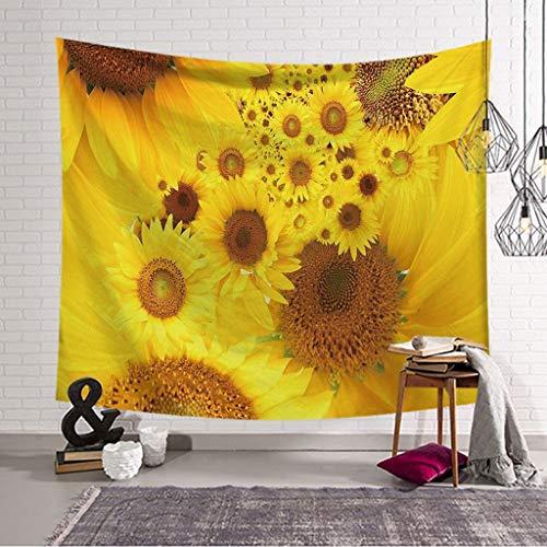 XHcloth Camera da Letto con arazzo Sunflower Tapestry Natural Art 3D Stampa Arazzo Dormitorio Camera da Letto Soggiorno Decorazione (Colore : C, Dimensioni : 203x150)