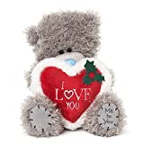 Me To You Christmas Teddy Bear With Love Heart 7 Inches