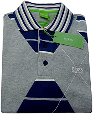 Polo Hugo Boss Green Paddy 3 Collection M gris manga corta