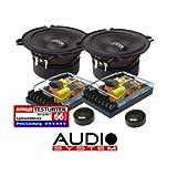 Audio System HX 130SQ–Koaxiallautsprecher für Auto, Schwarz