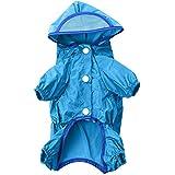 Puppy Pet Dog Casual Waterproof Rain Coat Jacket Hoody Clothes Apparel Size XXS/XS/S/M/L/XL